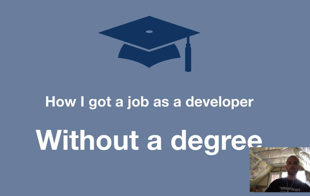 How I got a job as a web developer without a degree