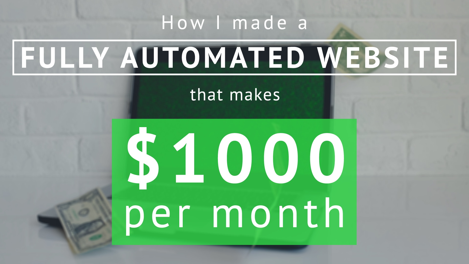 How I made a fully automated website that makes $1000 per month